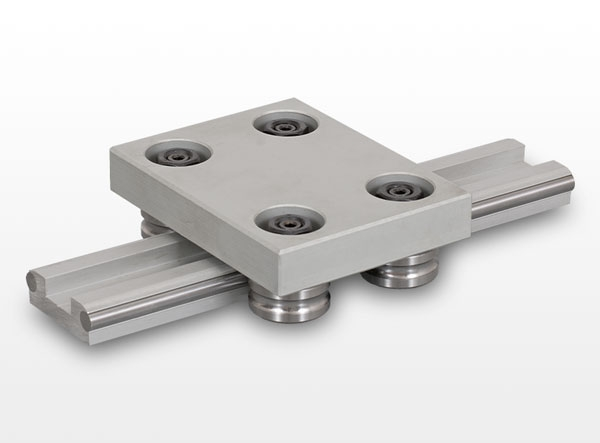 AV and AD type linear guide with roller wheels