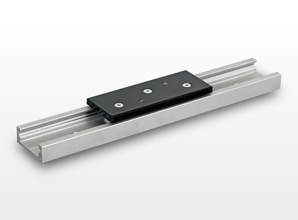 R type linear guide with rollers
