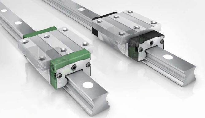 INA linear guide rails with balls
