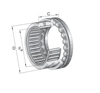 Combined axial/radial bearings