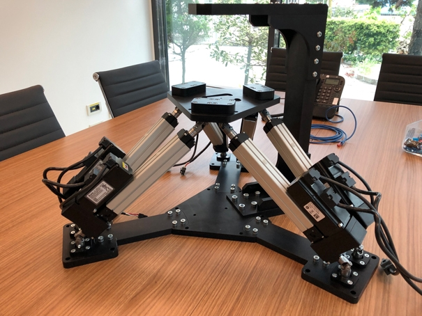 Linear actuators for 6-axis Stewart platform with ROS control
