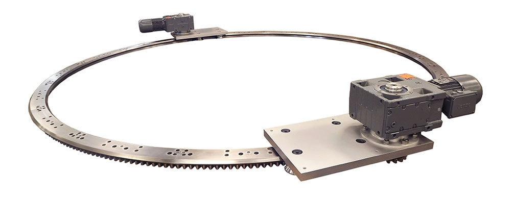 Hepcomotion Large Diameter Ring Guides, Segments and Track Systems