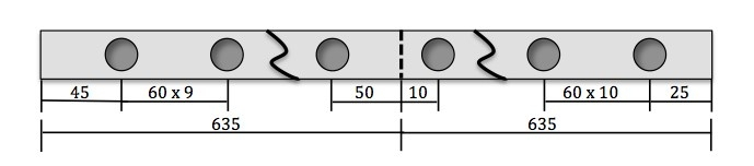 hole spacing example 2