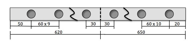 hole spacing example 4