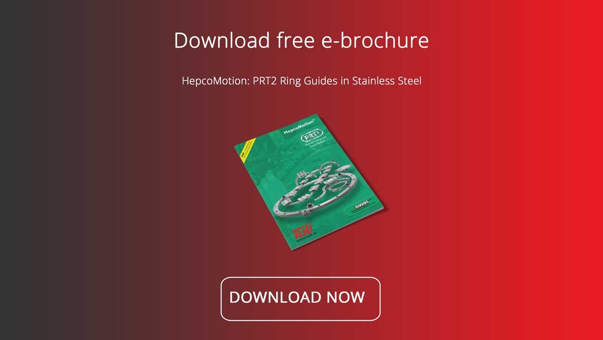 HepcoMotion PRT2 ring guides made from stainless steel