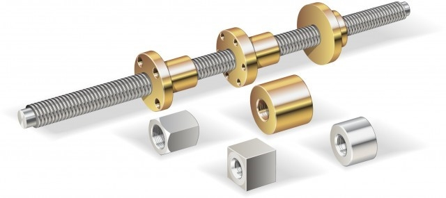 Trapezoidal screws and nuts